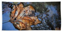 Hand Towel featuring the photograph Autumn Leaf by Debra and Dave Vanderlaan