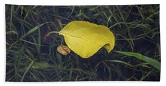 Autumn Leaf Floats Above The Crowd Bath Towel