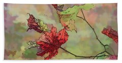 Hand Towel featuring the photograph Autumn Leaves - Abstract Art by Kerri Farley