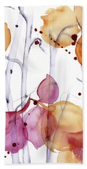 Hand Towel featuring the painting Autumn Leaves by Dawn Derman
