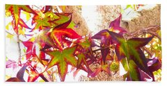 Autumn Leaves Experiment 2 Bath Towel by Karen Molenaar Terrell