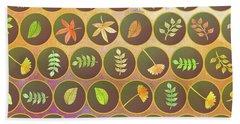 Autumn Leaves Hand Towel by Gaspar Avila