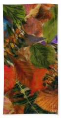 Hand Towel featuring the digital art Autumn Leaves by Klara Acel