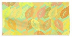Autumn Leaves Pattern Hand Towel by Gaspar Avila
