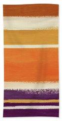 Autumn Lines Vertical- Art By Linda Woods Bath Towel