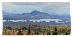 Autumn Maine Landscape Hand Towel