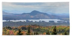 Autumn Maine Landscape Bath Towel