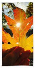 Autumn Maple Leaf Hand Towel