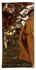 Hand Towel featuring the digital art Autumn by Methune Hively