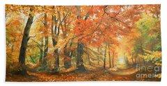 Autumn Mirage Bath Towel by Sorin Apostolescu