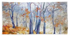 Autumn Mist - Morning Hand Towel by Irek Szelag