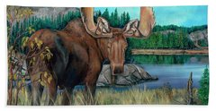Autumn Moose Hand Towel