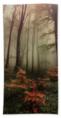 Autumn Mornin In Forgotten Forest Hand Towel