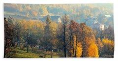 Autumn Morning Bath Towel by Henryk Gorecki