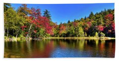 Autumn On 7th Lake Bath Towel