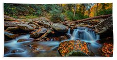 Autumn On The Chimney Tops Trail Hand Towel