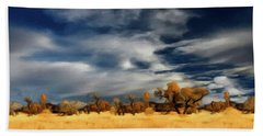 Hand Towel featuring the painting Autumn On The Edge Of The Great Plains  by David Dehner