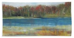 Autumn On The Maurice River Bath Towel