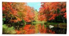 Autumn On The Mersey River, Kejimkujik National Park, Nova Scotia, Canada Hand Towel