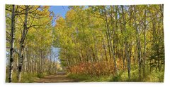 Autumn On The Trail Bath Towel