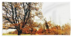 Autumn On White Hand Towel