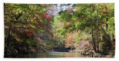 Autumn Over Golden Waters Hand Towel