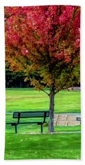 Autumn Park Hand Towel