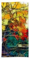 Hand Towel featuring the digital art Autumn by Pennie McCracken