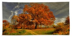 Autumn Picnic On The Hill Hand Towel