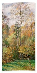 Autumn Poplars, Eragny Bath Towel