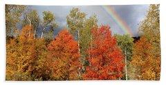 Autumn Rainbow Bath Towel