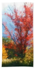 Autumn Red And Yellow Bath Towel