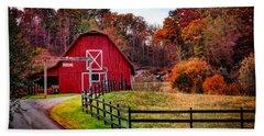 Autumn Red Barn Hand Towel