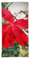 Autumn Red Hand Towel