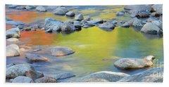 Autumn Reflections Hand Towel by Sharon Seaward