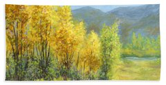 Autumn River Valley Hand Towel