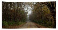 Autumn Road Bath Towel by Inspired Arts