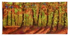 Autumn Shadows Bath Towel