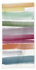 Autumn Sky- Abstract Art By Linda Woods Bath Towel
