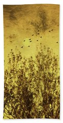 Hand Towel featuring the photograph Autumn Song by Diane Schuster