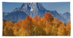 Autumn Splendor In Grand Teton Bath Towel