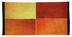Autumn Squares Hand Towel