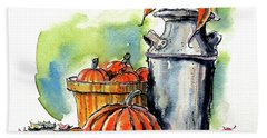 Autumn Still Life 2 Bath Towel by Terry Banderas