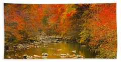 Bath Towel featuring the photograph Autumn Stream by Geraldine DeBoer
