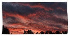 Hand Towel featuring the photograph Autumn Sunet by Kenny Glotfelty