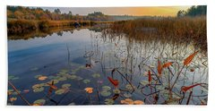 Autumn Sunrise At Compass Pond Hand Towel