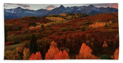 Bath Towel featuring the photograph Autumn Sunrise At Dallas Divide In Colorado by Jetson Nguyen