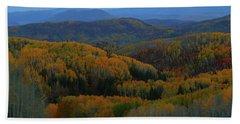 Autumn Sunrise At Rainbow Ridge Colorado Bath Towel by Jetson Nguyen