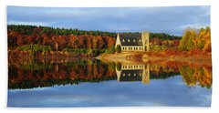 Autumn Sunrise At Wachusett Reservoir Bath Towel