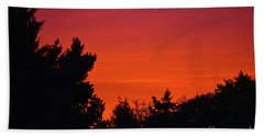 Bath Towel featuring the photograph Autumn Sunrise by Patti Whitten